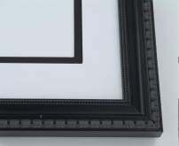"wood Custom Picture Frame Sku: 443  1 1/4"" Black With Beaded Lip"