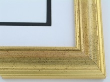"Custom Picture Frame Sku: 456  1 3/4"" Italian Gold Leaf"