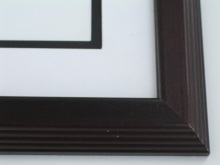 "Custom Picture Frame Sku: 461A  1 1/2"" Two Tone Mahogany"