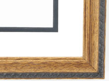 "Custom Picture Frame Sku: 471B  1 1/4"" Walnut W/rope Compo On Ash"