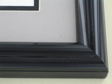Custom Picture Frame Sku: 48-26  Brite Black