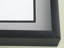 Custom Picture Frame Sku: 49-25  Satin Black