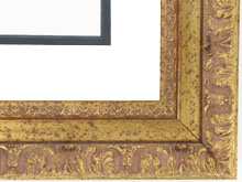 "wood Custom Picture Frame Sku: 492B  2"" Ornate Gold"
