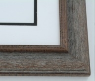 "Custom Picture Frame Sku: 493  2"" Wire Brush Finish"
