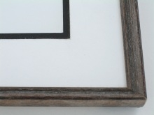 "Custom Picture Frame Sku: 496  1/2"" Wire Brush Finish"