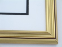 "Custom Picture Frame Sku: 498  1 1/8"" Antique Gold Leaf"