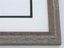 "Custom Picture Frame Sku: 502  1 1/4"" Dist Grey"