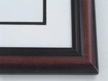 "Custom Picture Frame Sku: 503  1 3/4"" Two Tone Mahogany"