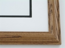 "Custom Picture Frame Sku: 504  1 1/4"" Oak Honey Color"