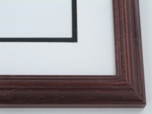 "Custom Picture Frame Sku: 507  1 1/4"" Satin Walnut"