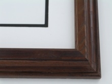 "Custom Picture Frame Sku: 512  1 1/2"" Ash Satin Walnut"