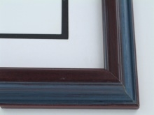 "Custom Picture Frame Sku: 513A  1 1/2"" Rev. Mahg Wire Brush"