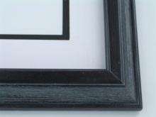 "Custom Picture Frame Sku: 514A  1 1/2"" Black Wire Brush Panel"