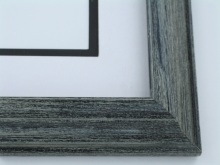"Custom Picture Frame Sku: 515A  1 1/2"" Black Wire Brush Reverse"