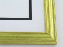 "Custom Picture Frame Sku: 516A  1 1/8"" Reverse Gold"