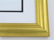 "Custom Picture Frame Sku: 521  1 5/8"" Light Antique Gold"