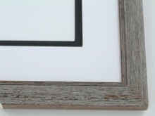 "Custom Picture Frame Sku: 523  1"" Grey Drift/blk Ant"