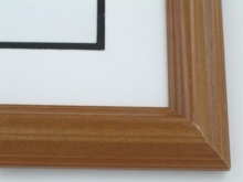 "Custom Picture Frame Sku: 538  1 1/2"" Oiled Cherry"
