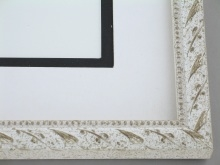 "wood Custom Picture Frame Sku: 554A  3/4"" Antq. White Compo"