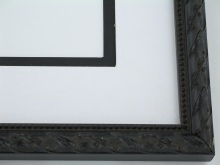 "Custom Picture Frame Sku: 555A  3/4"" Antq.black Compo"