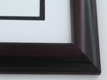 "Custom Picture Frame Sku: 559A  1 3/4""  Mahogany With Black"