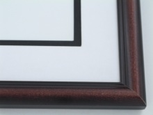 "Custom Picture Frame Sku: 561  1"" Two Tone Rosewood"