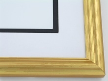 "Custom Picture Frame Sku: 562  1"" Gold Leaf"