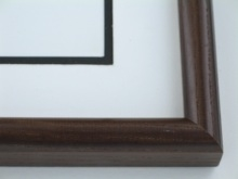 "Custom Picture Frame Sku: 573  1-1/4"" Ash Satin Walnut"