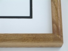 "Custom Picture Frame Sku: 574  1-1/4"" Ash Light Walnut"
