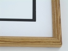 "Custom Picture Frame Sku: 575  1""  Ash Light Walnut  Round Top"