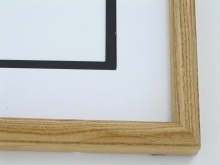 "Custom Picture Frame Sku: 576  1""  Ash Honey Color Round Top"