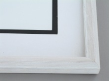 "Custom Picture Frame Sku: 577  1""  Ash Snowball White Round Top"