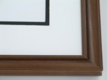 "Custom Picture Frame Sku: 579  1"" Walnut On Poplar"