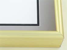 Custom Picture Frame Sku: 58-14  Frosted Gold
