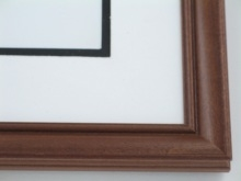"Custom Picture Frame Sku: 580  1"" Rosewood On Poplar"