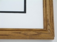 "wood Custom Picture Frame Sku: 581  1"" Ash Maple Stain"