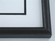 "Custom Picture Frame Sku: 596  1-1/4"" Ash Black"