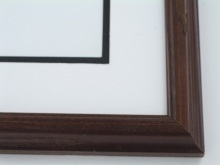 "Custom Picture Frame Sku: 600  1"" Ash Satin Walnut"