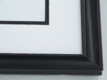 "Custom Picture Frame Sku: 604  1"" Black Moulding"