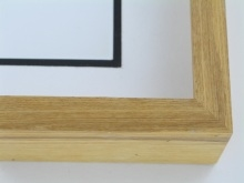 "wood Custom Picture Frame Sku: 605  2 1/4"" Ash Honey Color"