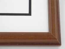 "wood Custom Picture Frame Sku: 606  1"" Walnut On Poplar"