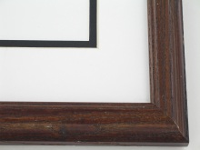 "wood Custom Picture Frame Sku: 607  1"" Dark Walnut On Poplar"