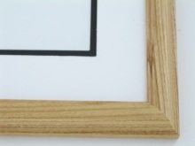 "Custom Picture Frame Sku: 609  1"" Walnut On Ash"