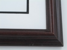 "wood Custom Picture Frame Sku: 610  1 1/2"" Dark Walnut On Poplar"