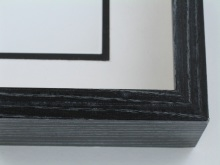 "wood Custom Picture Frame Sku: 611  2 1/4""  Black Shadow Box"