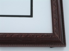 "Custom Picture Frame Sku: 616  1"" Embossed Mahogany"