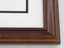 "wood Custom Picture Frame Sku: 620  1 1/2"" Light Walnut"