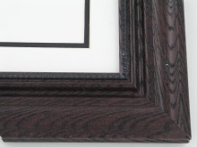 "Custom Picture Frame Sku: 621A  2 1/4"" Satin Walnut On Ash"