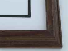 "wood Custom Picture Frame Sku: 623  1 1/2"" Mahogany"