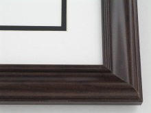 "wood Custom Picture Frame Sku: 624  1 1/2"" Dark Walnut"